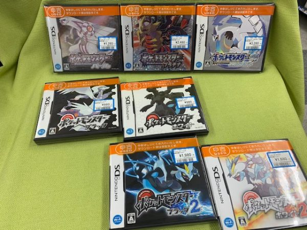 DSなゲームソフト買い取りました!「ポケットモンスター」プラチナやソウルシルバーなどなど(=゚ω゚)ノ