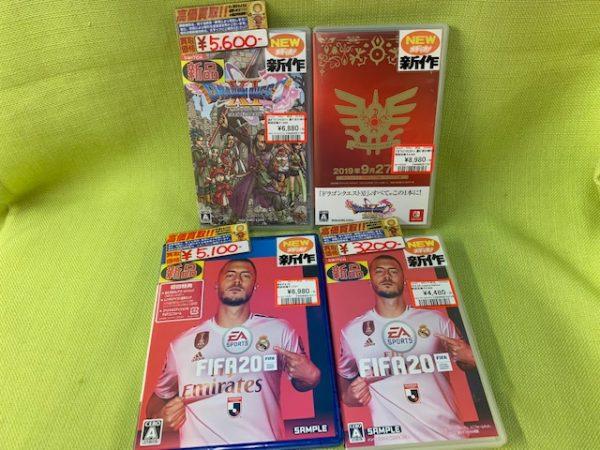 新作TVゲーム9月27日(金)発売 スイッチ「ドラゴンクエスト11S」 PS4/スイッチ「FIFA20」定番RPGと定番サッカーゲームの発売です!!(=゚ω゚)ノ