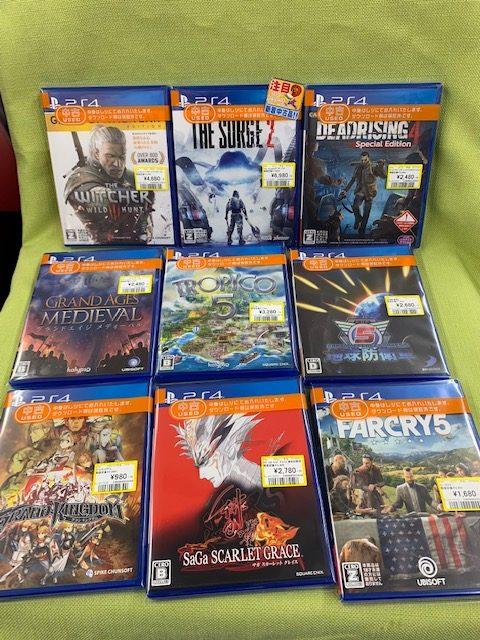 PS4なゲーム買い取りました!(=゚ω゚)ノ