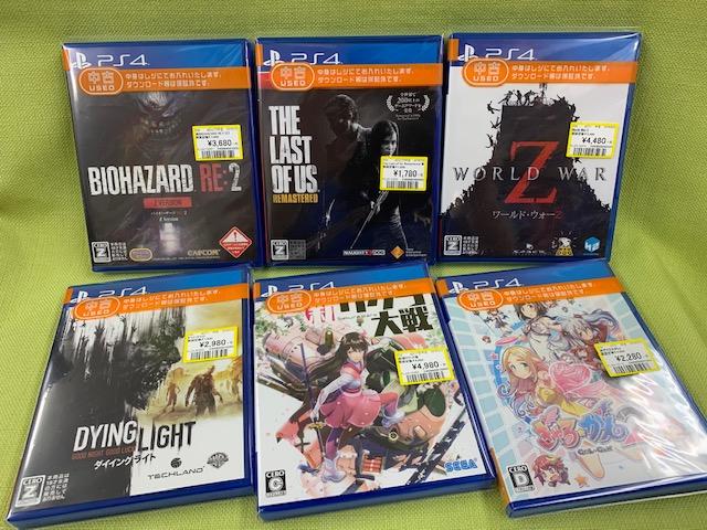 PS4なゲームソフト買い取りました!(=゚ω゚)ノ