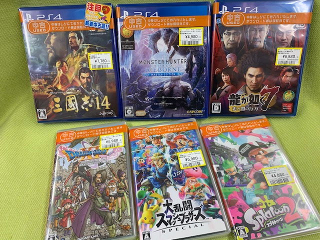 PS4&スイッチなゲームソフト買い取りました!(=゚ω゚)ノ