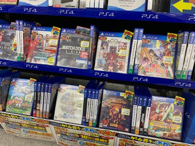 新品PS4ゲームソフト特価コーナー更新入りました!!(=゚ω゚)ノ