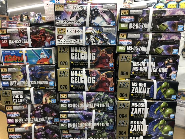 【まとめ買取企画も大好評】ガンプラHGシリーズ大量買取しました!