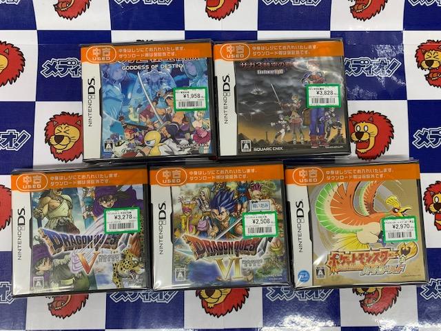 DSなゲームソフト買い取りました!!(=゚ω゚)ノ