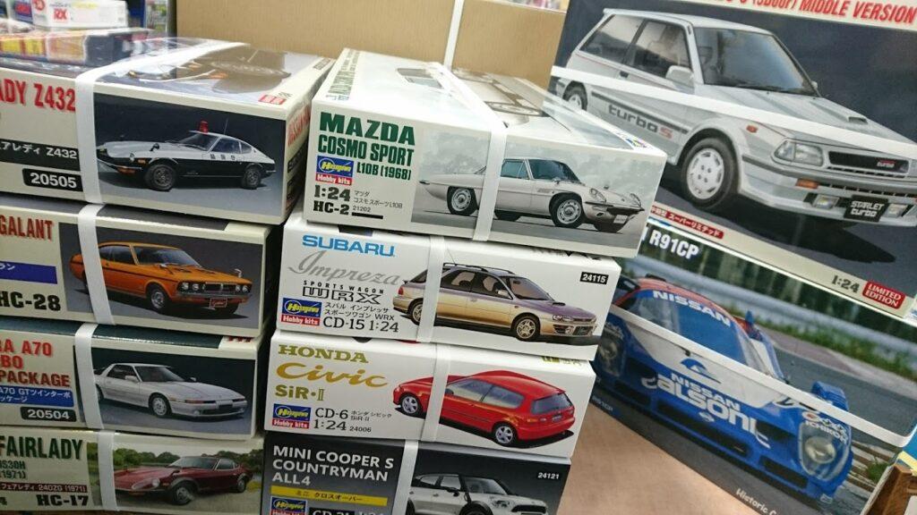 ハセガワのカーモデル続々と再入荷です!!