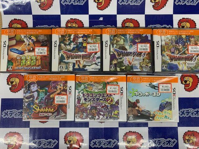 DS/3DSなゲームソフト買い取りました!!(=゚ω゚)ノ